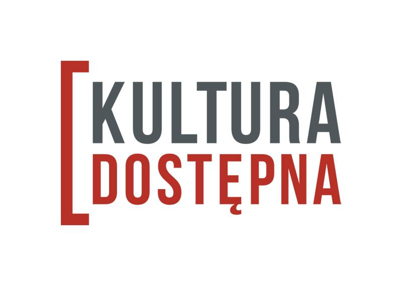 Logo programu Kultura Dostępna z kolorowym tym właśnie napisem.